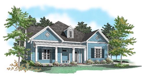 House Plan 58077 Elevation