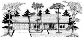 Ranch House Plan 58078 with 3 Beds, 2 Baths, 2 Car Garage Elevation