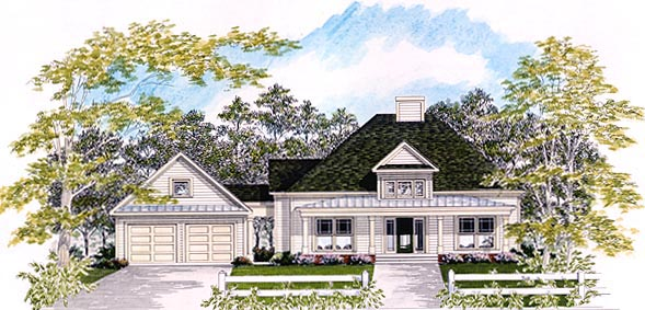 Colonial House Plan 58079 Elevation