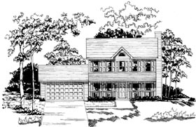 Traditional House Plan 58081 Elevation