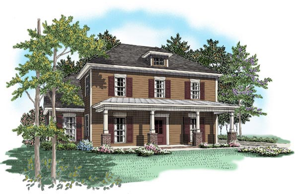 Colonial House Plan 58082 Elevation
