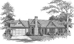 Plan Number 58084 - 1206 Square Feet
