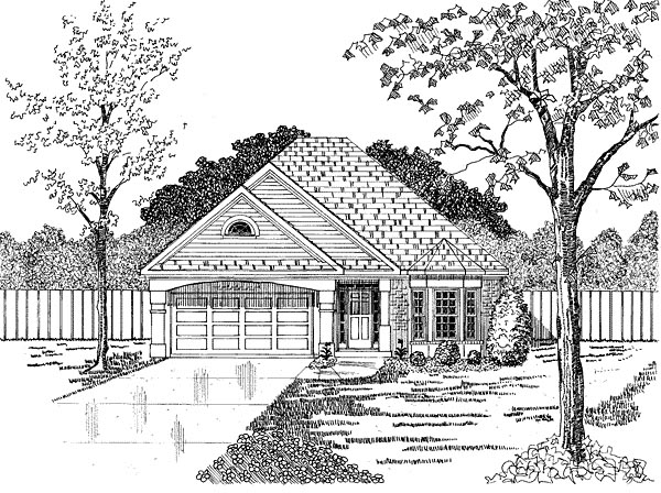 Traditional House Plan 58085 Elevation