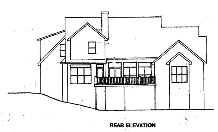 Cape Cod House Plan 58086 Rear Elevation