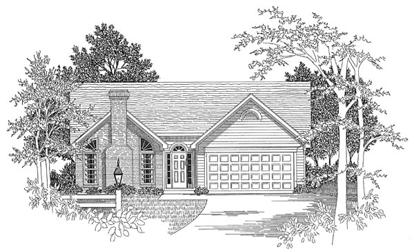 Ranch House Plan 58089 Elevation