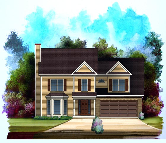 Ranch House Plan 58090 Elevation