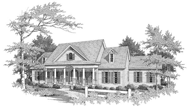 Colonial House Plan 58091 Elevation