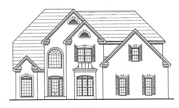 Traditional House Plan 58092 Elevation