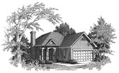 Plan Number 58093 - 1329 Square Feet