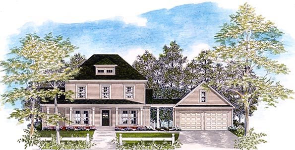 Colonial House Plan 58094 Elevation
