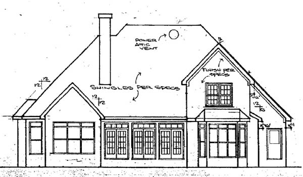 Traditional House Plan 58099 Rear Elevation