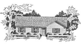 Ranch House Plan 58100 Elevation
