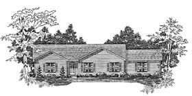 Plan Number 58104 - 1575 Square Feet