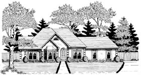 Traditional House Plan 58105 Elevation