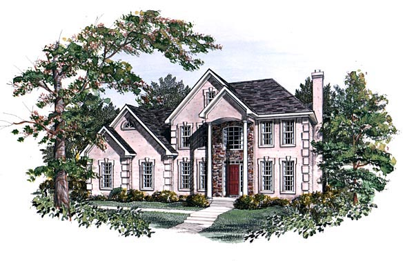 Traditional House Plan 58106 Elevation