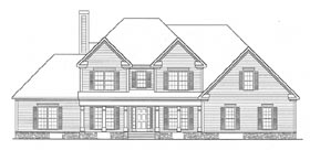Traditional House Plan 58107 with 4 Beds, 4 Baths, 2 Car Garage Elevation