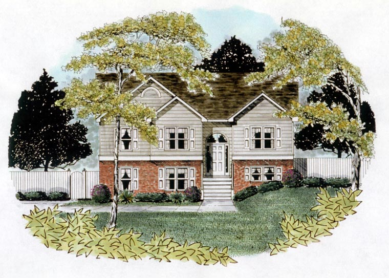 Traditional House Plan 58110 with 3 Beds, 2 Baths, 2 Car Garage Elevation