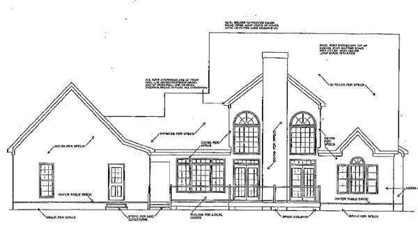 Traditional House Plan 58111 Rear Elevation