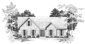 Ranch House Plan 58112 Elevation