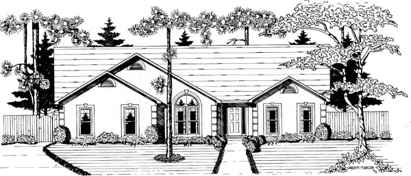 Ranch House Plan 58113 Elevation