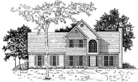 House Plan 58118 | Traditional Style Plan with 1515 Sq Ft, 3 Bedrooms, 2.5 Bathrooms, 2 Car Garage Elevation