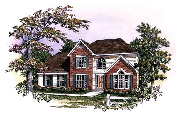 Traditional House Plan 58120 Elevation