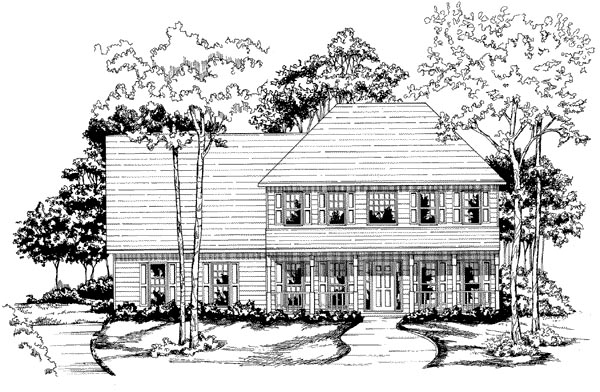 Traditional House Plan 58122 Elevation