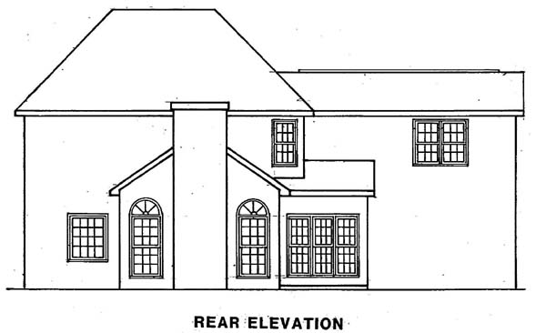 Traditional House Plan 58122 Rear Elevation