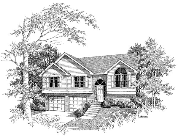 Traditional House Plan 58123 with 3 Beds, 2 Baths, 2 Car Garage Elevation