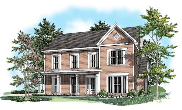 House Plan 58124 Elevation