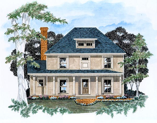 Traditional House Plan 58125 Elevation