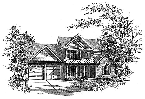 Traditional House Plan 58127 Elevation