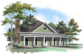 Colonial House Plan 58128 Elevation
