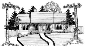 Plan Number 58132 - 1277 Square Feet