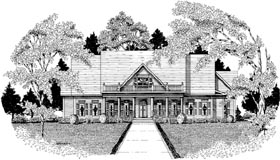 Traditional House Plan 58133 Elevation