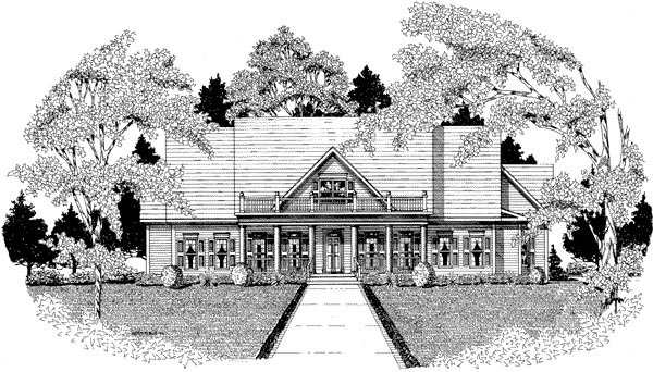 Traditional Elevation of Plan 58133