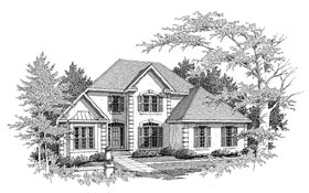 House Plan 58135 | European Style House Plan with 2844 Sq Ft, 3 Bed, 4 Bath, 2 Car Garage Elevation