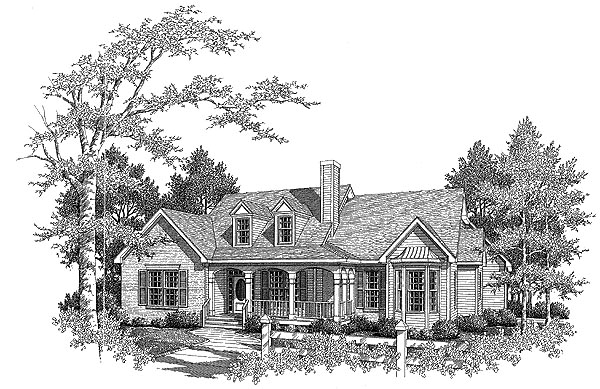 Traditional House Plan 58136 Elevation