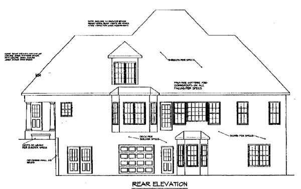 Cape Cod House Plan 58137 Rear Elevation