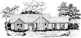 Plan Number 58145 - 1269 Square Feet