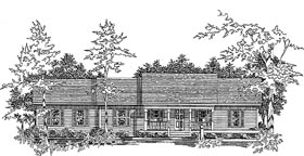 Ranch House Plan 58147 Elevation
