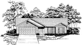 Plan Number 58148 - 1275 Square Feet