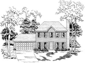 Traditional House Plan 58150 with 3 Beds, 2.5 Baths, 2 Car Garage Elevation