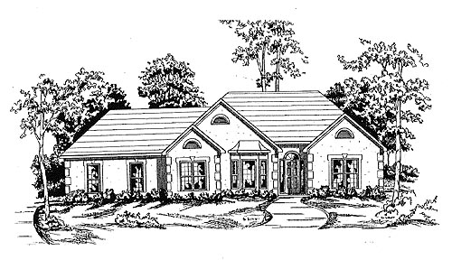 Traditional House Plan 58151 Elevation