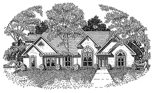 European House Plan 58152 Elevation
