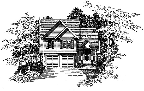 Traditional Elevation of Plan 58154