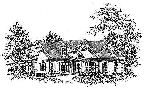 Traditional House Plan 58155 Elevation