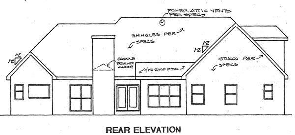 Traditional House Plan 58155 Rear Elevation