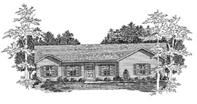 Plan Number 58156 - 1843 Square Feet