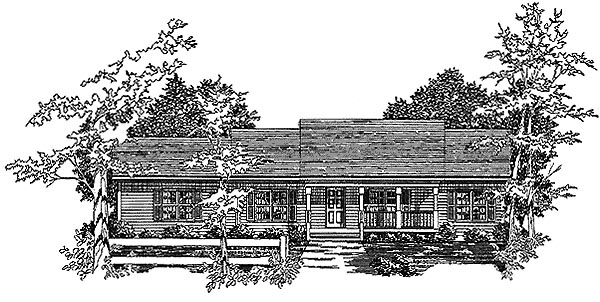 Ranch House Plan 58157 Elevation